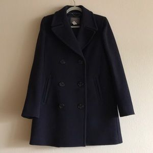 Never Worn Beautiful Navy Blue Peacoat